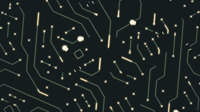circuit board animation - nanotecnologia video stock e b–roll
