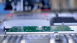 Circuit board assembly, production line. 4K.