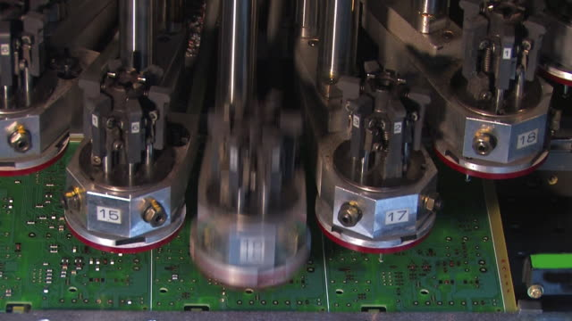 circuit board assembly - repetition stock videos & royalty-free footage