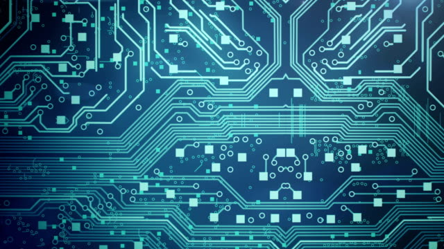 circuit board background 1 - loop - electronics industry stock videos & royalty-free footage