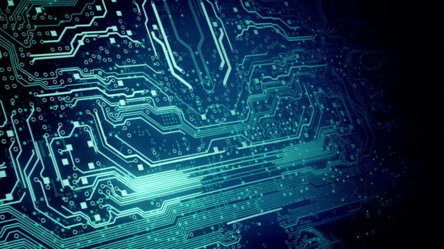 circuit board background 2 - loop - electronics industry stock videos & royalty-free footage