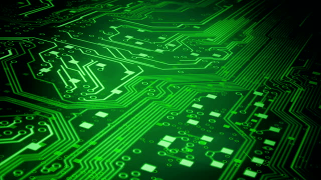 Circuit Board Background 3 (green) - Loop