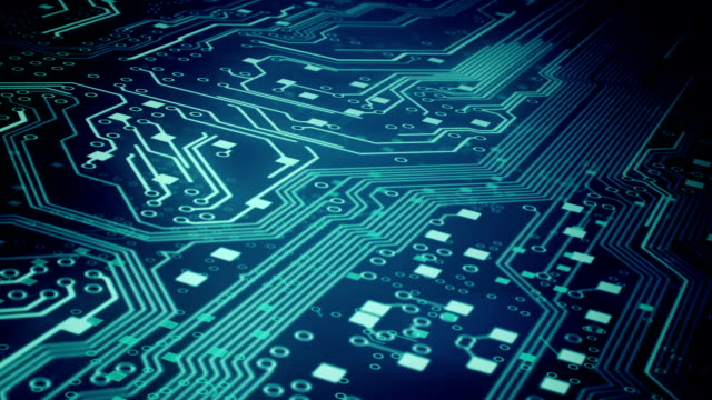 circuit board background 3 - loop - electrical equipment stock videos & royalty-free footage