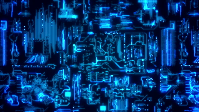 circuit board background blue - circuit board stock videos & royalty-free footage