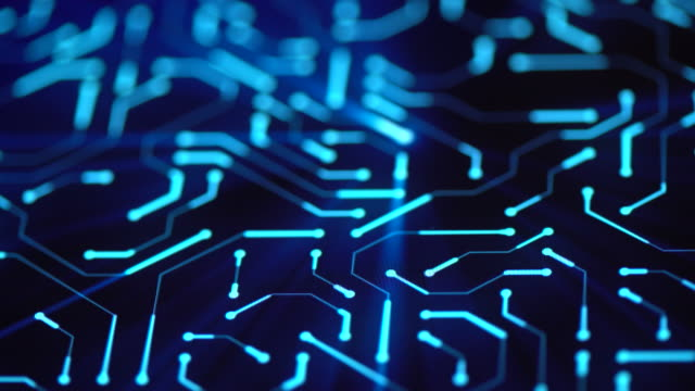 circuit board background close-up - sicurezza di rete video stock e b–roll
