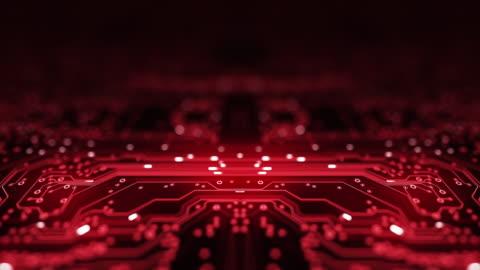 vídeos y material grabado en eventos de stock de circuit board background - copiar espacio, rojo - animación en bucle - computadora, datos, tecnología, inteligencia artificial - mensaje de error