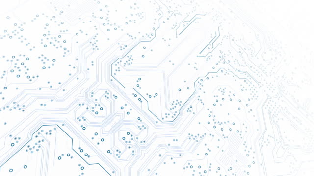 circuit board background - diagonal, white - loopable animation - computer, data, technology, artificial intelligence - design element stock videos & royalty-free footage