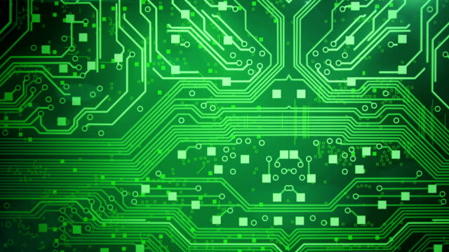 circuit board background (green) - loop - circuit board stock videos & royalty-free footage