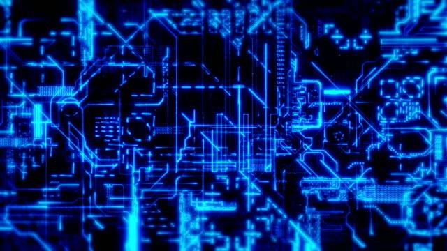 vídeos de stock, filmes e b-roll de fundo de placa de circuito - homem e máquina