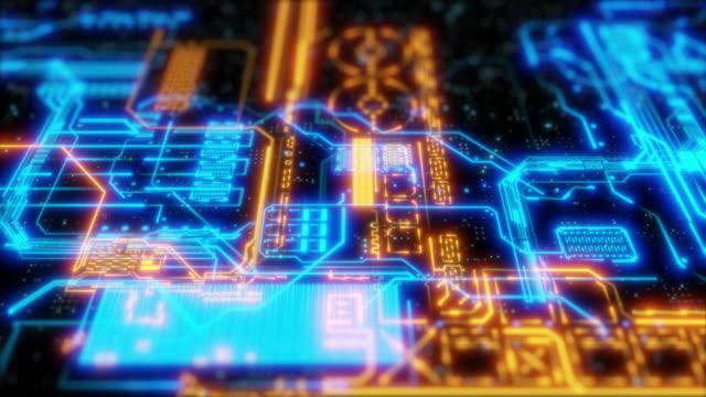 回路基板の背景 - 中央演算処理装置点の映像素材/bロール