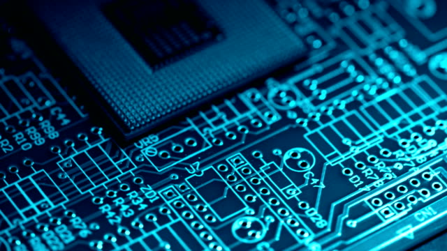 circuit board electronics industry - computer chip stock videos & royalty-free footage