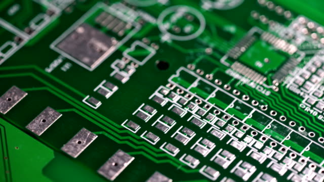 circuit board electronics industry - computazione quantistica video stock e b–roll