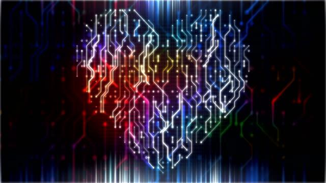 kretskort i form av hjärta animation loop - kort bildbanksvideor och videomaterial från bakom kulisserna