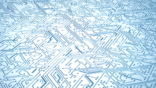 circuit board pattern close up (bright) - loop - circuit board stock videos & royalty-free footage