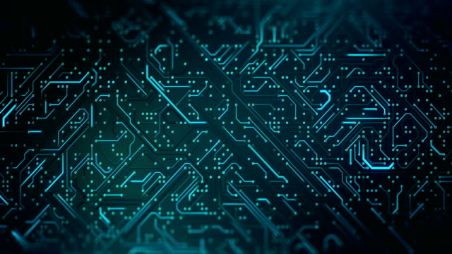 circuit board pattern (green) - loop - hd format stock videos & royalty-free footage