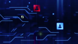 Circuit Board, Social Media, Technology Background