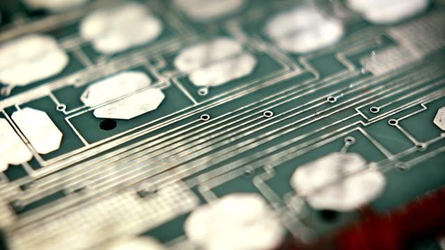 circuit board tech loop 08 - computer chip stock videos & royalty-free footage