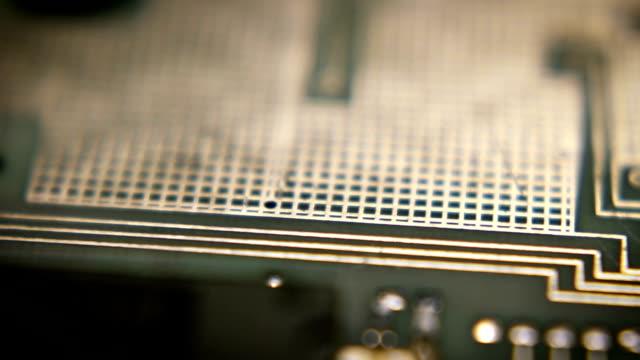 circuit board tech loop 11 - computer chip stock videos & royalty-free footage