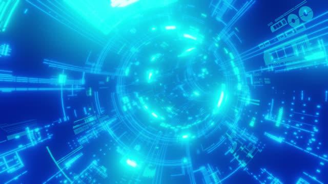 circuit board tunnel - loop - cpu stock videos & royalty-free footage