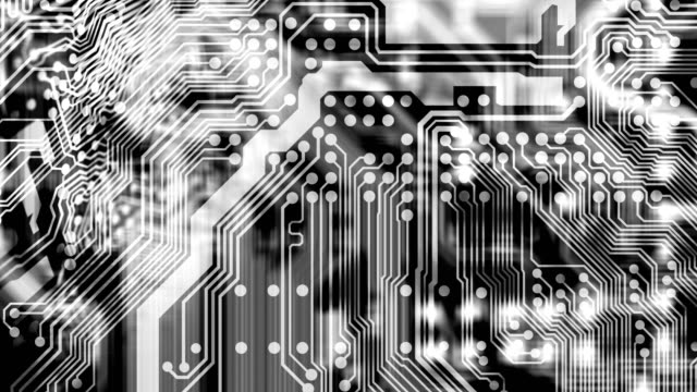 circuit board - black and white stock videos & royalty-free footage