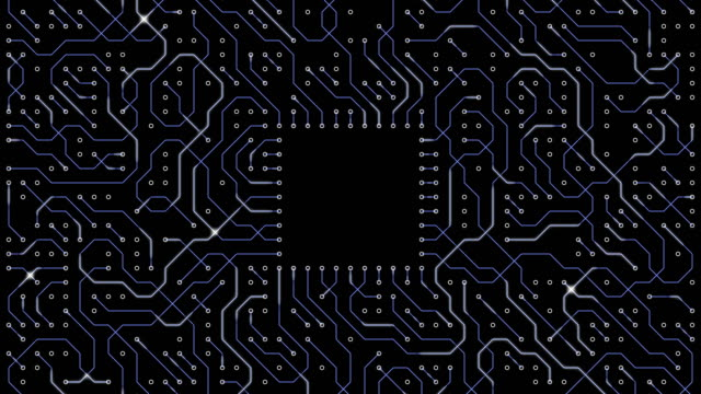 circuit board - nanotecnologia video stock e b–roll
