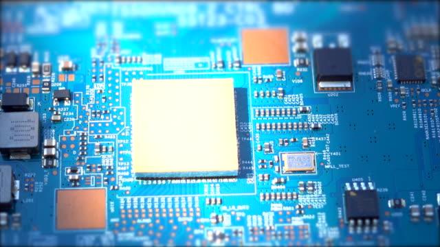 回路ドリー ショット - 回路基板点の映像素材/bロール