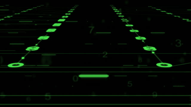 circuits motion background,green color