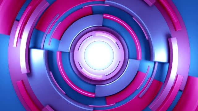 kreisförmige hintergrund abstrakte - parallele geometrie stock-videos und b-roll-filmmaterial
