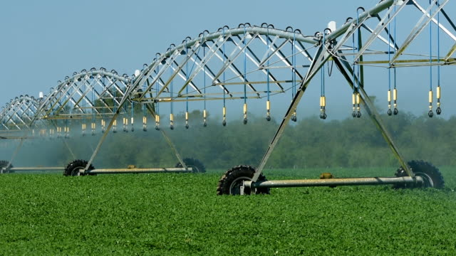 circular irrigation in operation with system components moving - aquifer stock videos & royalty-free footage