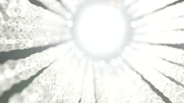 vídeos y material grabado en eventos de stock de circular lamp jewels starburst - concéntrico