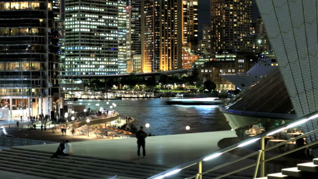 circular quay at night - sydney stock videos & royalty-free footage