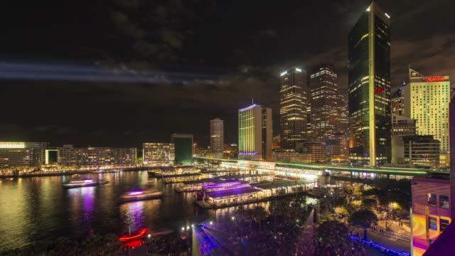 Circular Quay Vivid Sydney 2017 4K