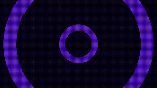 ledスクリーンパーティクルとライトアニメーションの円形技術の背景。(ループ可能) - 簡素点の映像素材/bロール