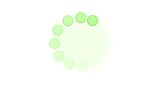 circulating green balls on white as a background - computer monitor white background stock videos & royalty-free footage