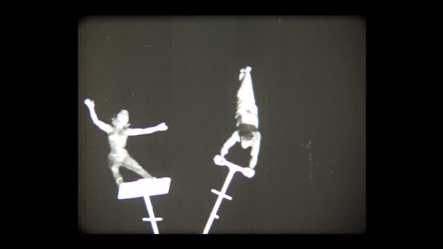 1972 circus performers on flexible poles - flexibility stock videos & royalty-free footage
