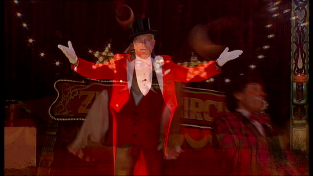 circus ringmaster norman barrett; england: london: southall: int circus ringmaster norman barrett introducing zippo's circus acts sot circus juggler... - ringmaster stock videos & royalty-free footage