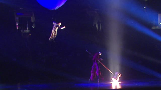 cirque du solleil's delirium at the opening of cirque du soleil's delirium at staples center in los angeles california on september 14 2006 - cirque du soleil stock videos & royalty-free footage