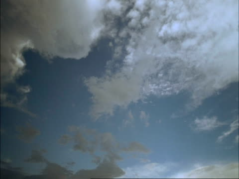 t/l cirrocumulus clouds in blue sky - cirrocumulus stock videos & royalty-free footage