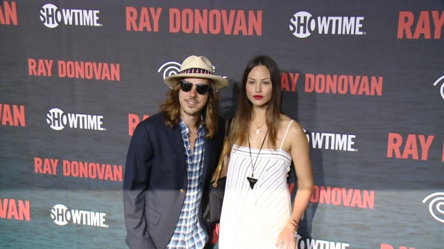 cisco adler barbara stoyanoff at showtime and time warner cable celebrate season two of ray donovan in los angeles ca - showtime video stock e b–roll