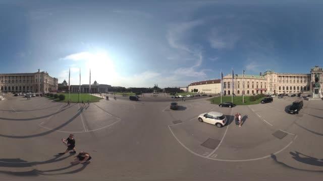 360VR cities 4K video Hofburg Vienna