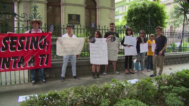 citizens gather in front of the office of veracruz state to ask justice for mexican photojournalist ruben espinosa shot dead on friday with four women - photojournalist stock videos & royalty-free footage