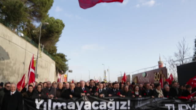 Citizens of Istanbul marching in solidarity after the Reina nightclub New Years eve shooting attack