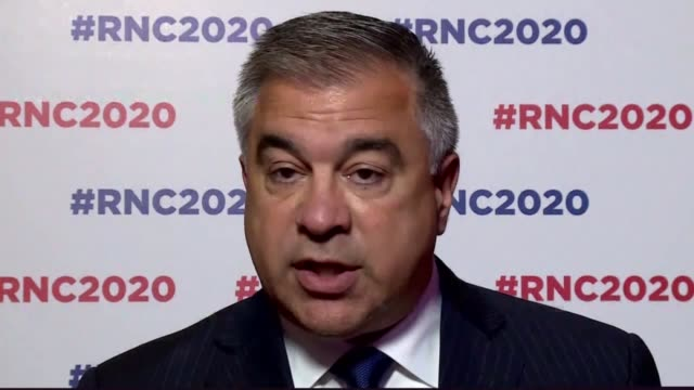 citizens united president david bossie acting as chairman of the maryland republican party says at the 2020 republican national convention during the... - carolina del nord stato usa video stock e b–roll