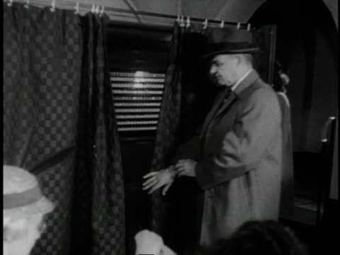 1961 b/w citizens voting in elections / united states  - voting ballot stock videos and b-roll footage