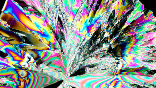 citric acid crystallization under polarized light 4k timelapse - mineral stock videos & royalty-free footage