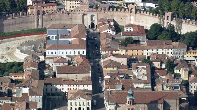 Cittadella-Luftaufnahme-Veneto, Padua, Cittadella, Italien