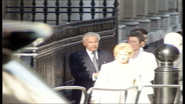 national audit office inquiry date downing street ext lord levy along downing street with unidentified group lord levy along downing street - audit stock videos and b-roll footage