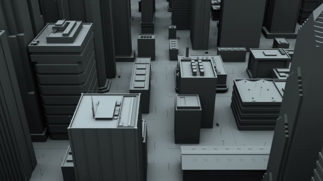 a city aerial flyover 3d animation - 3d animation stock videos & royalty-free footage