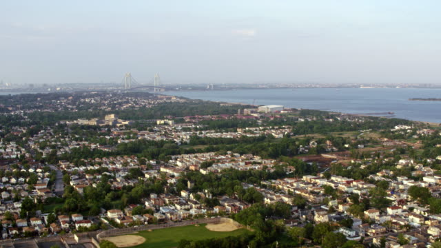 AERIAL City along the coastline in New Jersey