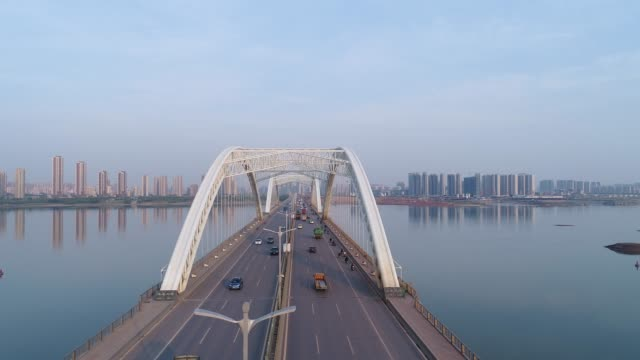 city and bridge - china east asia stock videos & royalty-free footage